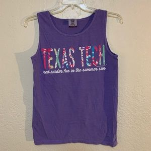 TEXAS TECH COMFORT COLORS TANK